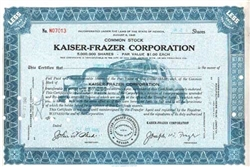 Kaiser-Frazer Corporation Stock Certificate