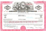 Chrysler Financial Corporation Stock Certificate