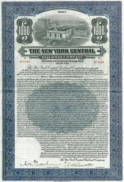 The New York Central Railroad Company Bond