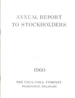 1960 Coca-Cola Annual Report