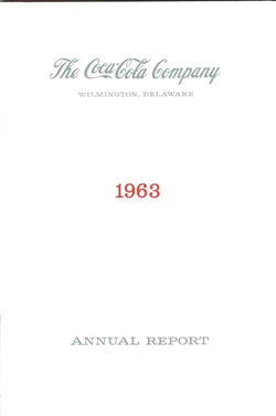 1963 Coca Cola Annual Report