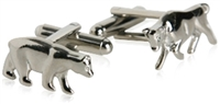 Stock Market Bull Bear Cufflinks