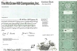 The McGraw-Hill Companies, Inc. Specimen Stock Certificate