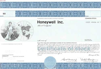 Honeywell Inc. Specimen Stock Certificate