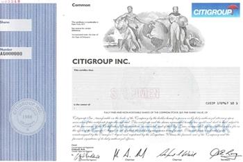 Citigroup Inc Specimen Stock Certificate