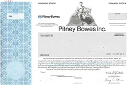 Pitney Bowes, Inc. Specimen Stock Certificate