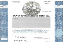 Dover Downs Entertainment, Inc. Specimen Stock Certificate