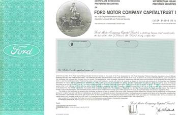 Ford motor co capital trust i specimen stock certificate for Ford motor company stock market