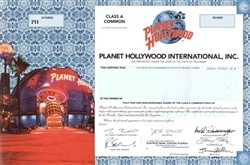 Planet Hollywood International, Inc. Specimen Stock Certificate