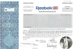 Reebok International, Ltd. Specimen Stock Certificate