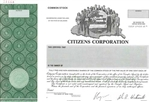Citizens Corporation Specimen Stock Certificate