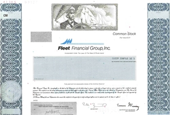 Fleet Financial Group, Inc. Specimen Stock Certificate