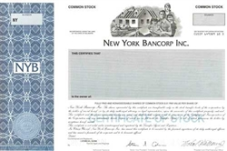 New York Bancorp Inc. Specimen Stock Certificate