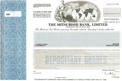 The Mitsubishi Bank, Ltd. Specimen Stock Certificate