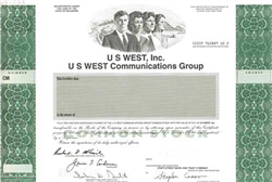 US West, Inc. Specimen Stock Certificate
