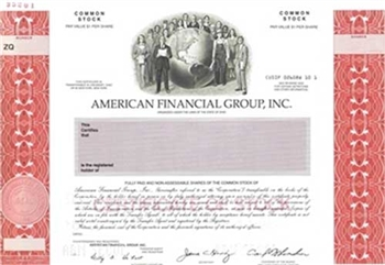 American Financial Group, Inc. Specimen Stock Certificate