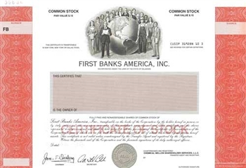 First Banks America, Inc. Specimen Stock Certificate
