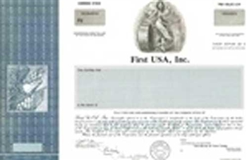 First USA, Inc. Specimen Stock Certificate