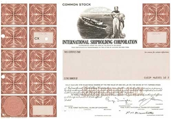 International Shipholding Corp Specimen Stock Certificate