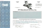 ITT Educational Services, Inc. Specimen Stock Certificate