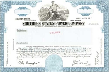 Northern States Power Company Specimen Stock Certificate