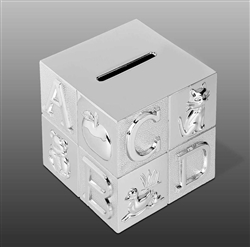 Silver Plated Ebaby Block Bank