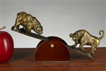 See-Saw Bull and Bear Sculpture
