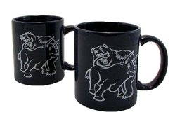Fighting Bull & Bear Office Coffee Mugs -Wedgewood Blue