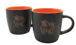 Fighting Bull & Bear Coffee Mugs -Orange Cafe