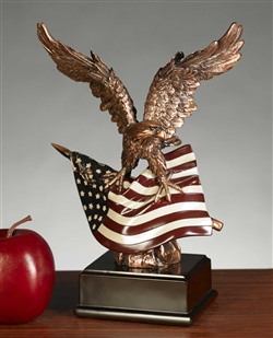 American Flag and Eagle Statue - Free Next Day Engraving