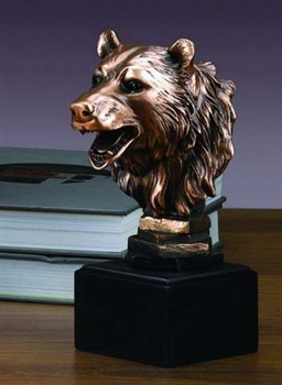 Bear Head Statue - Free Next Day Engraving