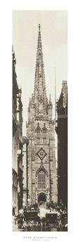 Wall Street Showing Trinity Church Print