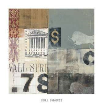 Bull Shares by Alec Parker Art Print