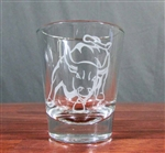 Stock Market Bull Shot Glass -  Set of 2