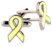 Yellow Ribbon Cufflinks for Troops