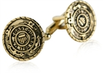 Coast Guard Cufflinks Gold USCG