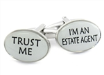 Trust Me Real Estate Cufflinks