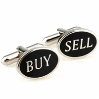 Silver Buy Sell Cufflinks