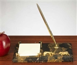 Bull and Bear Post It Note Holder w/Pen
