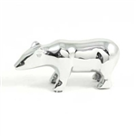 Brass Chrome Plated Bear Paperweight