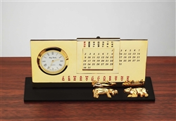 Stock Market Perpetual Calendar with Clock
