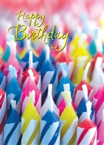 Candle Collage Birthday Card
