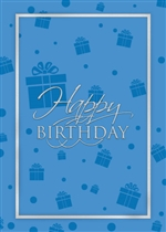 Birthday Blue Presents Card