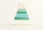 Festive Birthday Cake Birthday Card - Greeting Card
