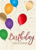 Birthday Balloons Birthday Card - PREMIUM GREETING CARD