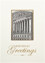 Gold Wall Street Birthday Card - Greeting Card