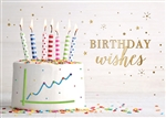 Frosted Cake Graph Birthday Card
