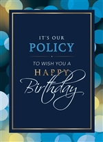 Birthday Policy Card