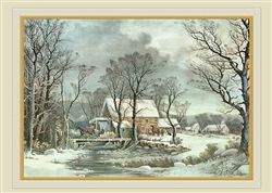 Currier & Ives - Winter in the Country Holiday Card
