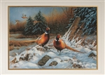 Pheasants Happy Holidays Card